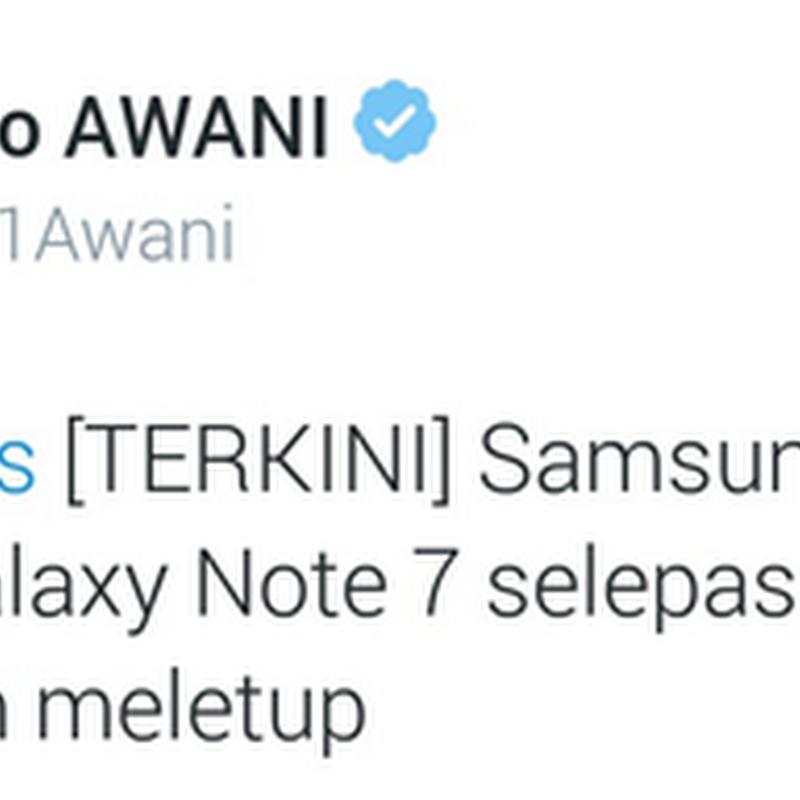 Galaxy Note 7 jatuhkan 'maruah' SAMSUNG !