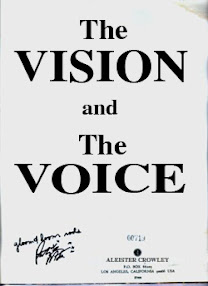 Cover of Aleister Crowley's Book Liber 418 The Vision and the Voice