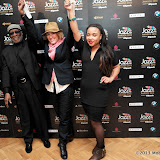 WWW.ENTSIMAGES.COM -  Ahmad Jamal, Cery Matthews and Natalie Duncan  arriving   at Jazz FM Awards at One Marylebone road London January 31st 2013                                                      Photo Mobis Photos/OIC 0203 174 1069