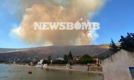Πύρινος εφιάλτης στην Εύβοια - Εκκενώθηκε ο οικισμός Νημποριό