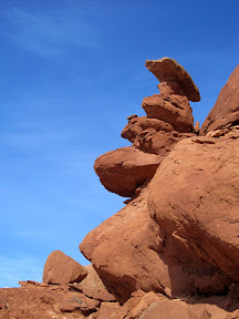 Rock formation in the Entrada Sandstone