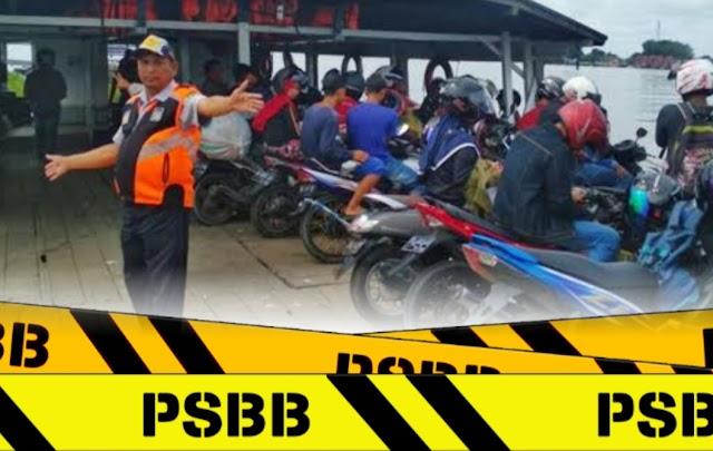 PSBB Wajib Jaga Jarak dan Pakai Masker di Feri Penyeberangan