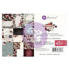 Prima Marketing Journaling Cards Pad 4X6 45/Pkg - Midnight Garden UTGÅENDE
