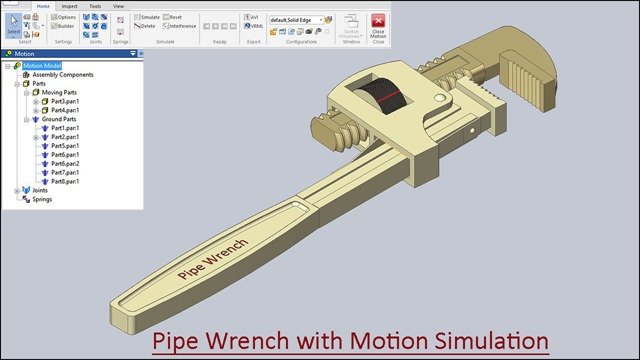 Pipe Wrench with Motion Simulation