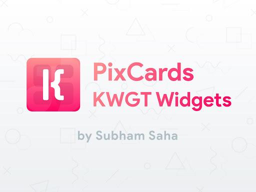 PixCards KWGT - Modern Card Style Widgets screenshot 1