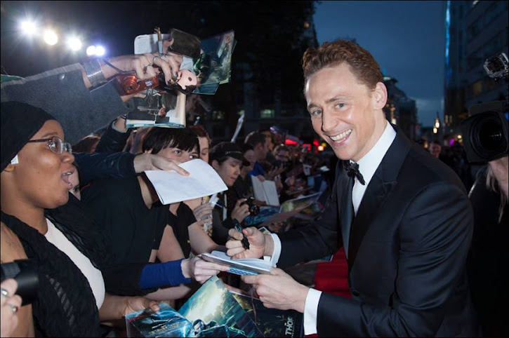 Tom Hiddleston at the Thor: The Dark World London Premiere #ThorDarkWorldEvent