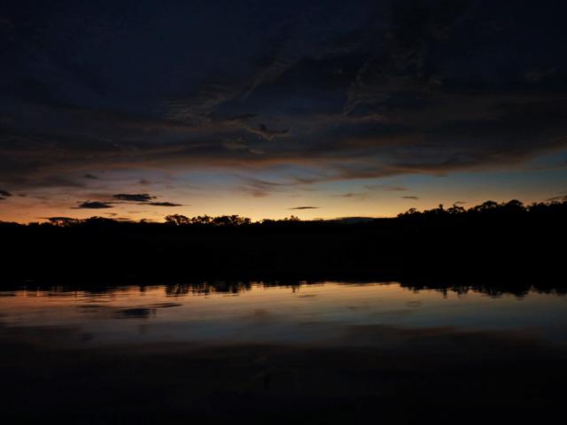 Pilchicocha Lake at dusk