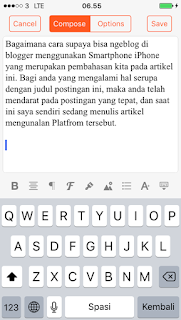 Cara Ngeblog di Blogger via IPhone