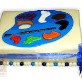 10. kép: Formatorták (lányoknak) - Kék palettás torta