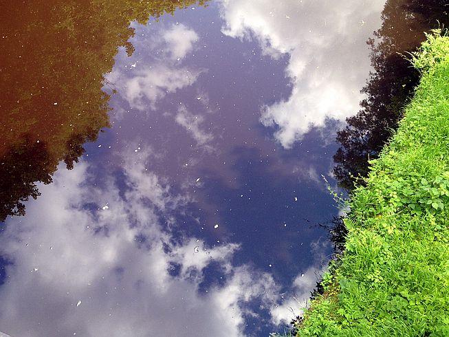 Spiegelung im Union Canal