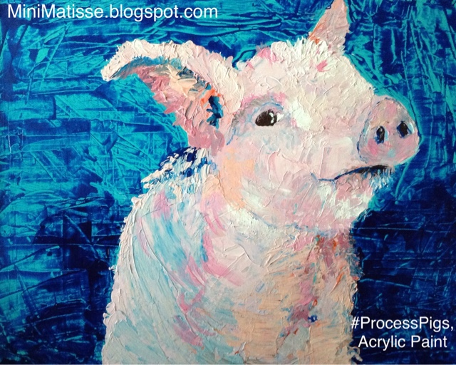 Mini matisse processpigs acrylic paint for Things to do on paint