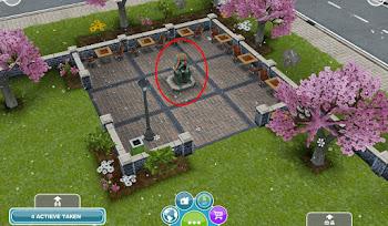 Sims FreePlay Snow Belt thinking man statue