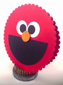 Linda Vich Creates: Valentine Round Up: Punch art Elmo card.