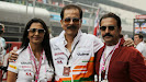 Subrata Roy Sahara (Sahara Chairman) with his wife Swapna Roy on the grid.