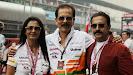 Subrata Roy Sahara (Sahara Chairman) with his wife Swapna Roy on the grid.