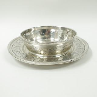 Sterling Silver Child's Circus Bowl & Plate