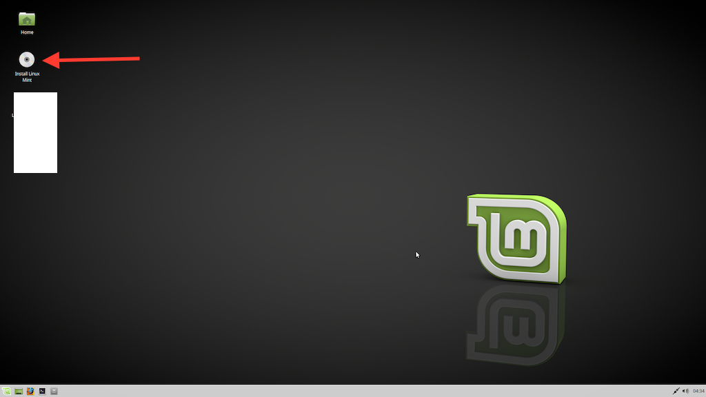 19 Install Linux Mint icon on the desktop