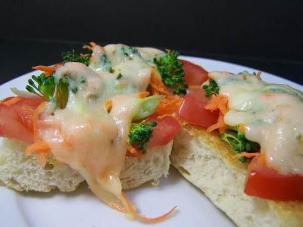Open-face Vegetable Sandwiches, Diabetic Recipe