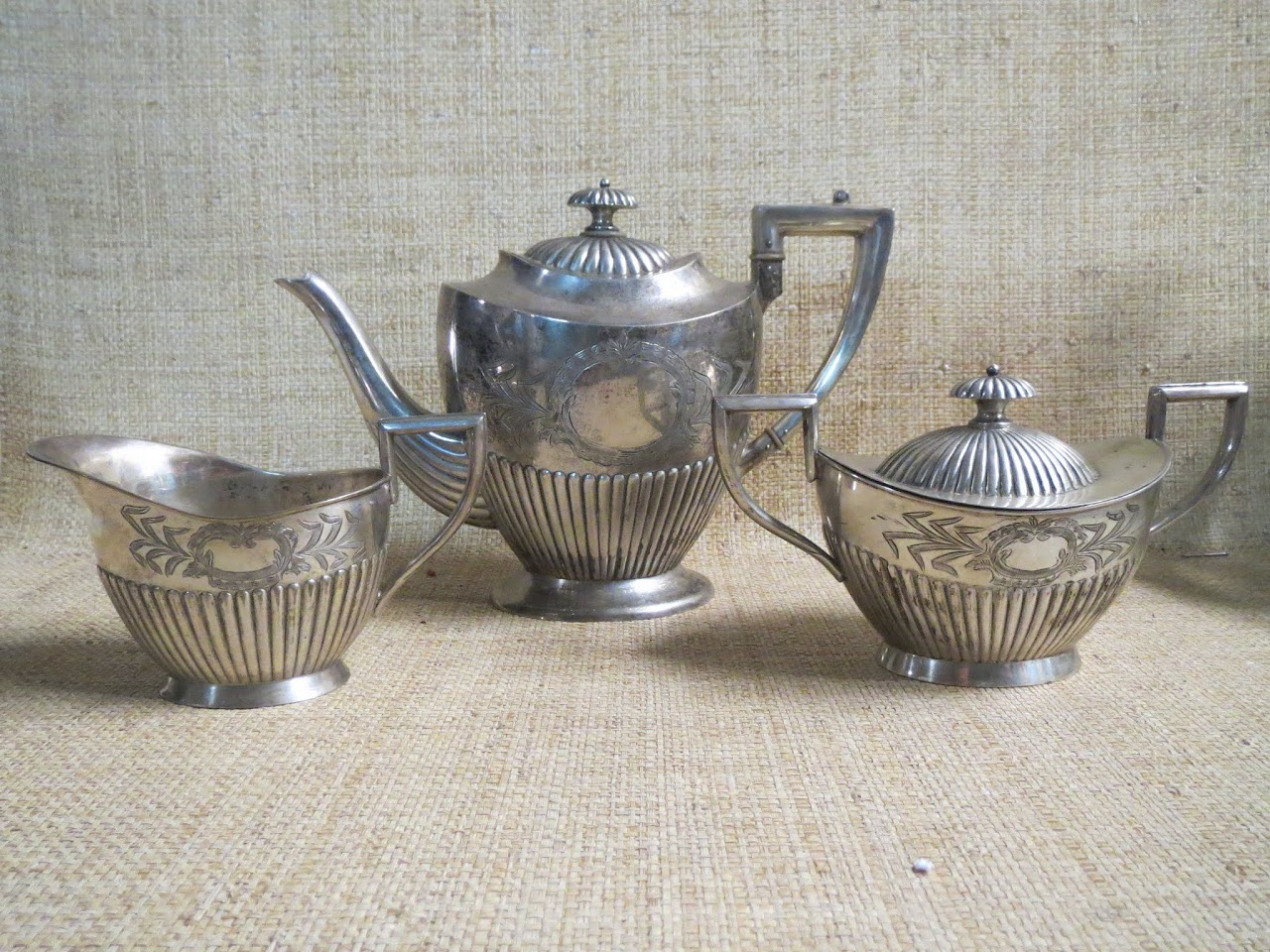 Coin Silver British Tea Set