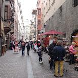 tourist street in Innsbruck, Tirol, Austria