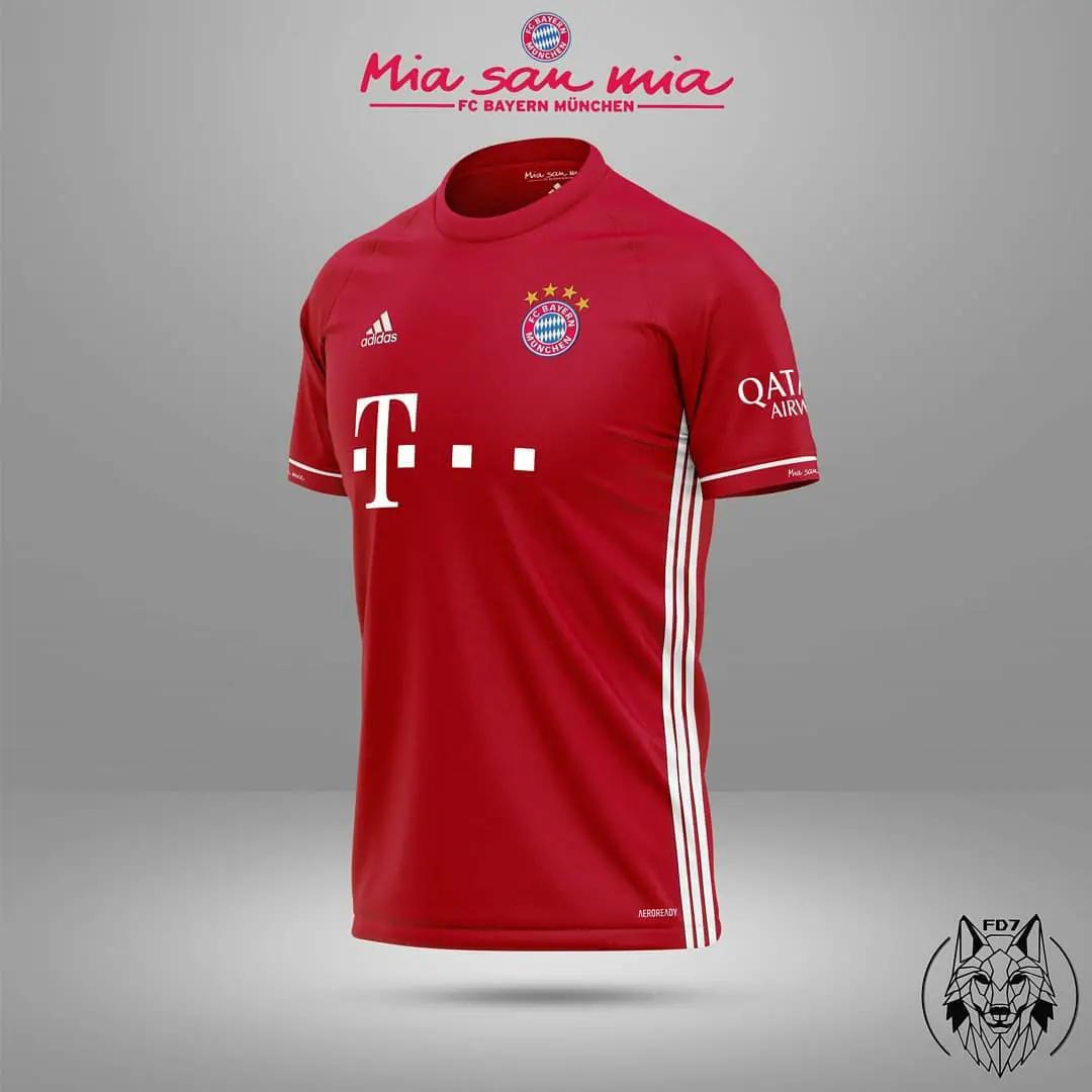 Bocoran Jersey Bayern Munchen 2020/2021 - Home Away Third