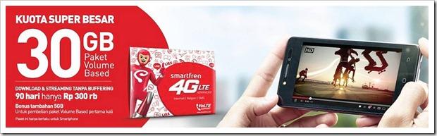 Paket Smartfren Kuota Super Besar 30GB