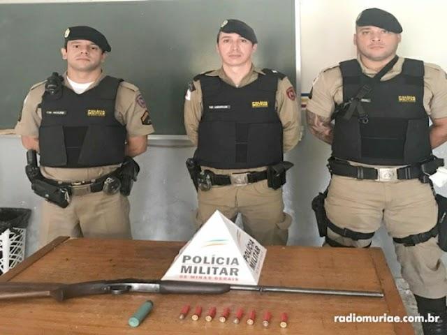 Divino: em menos de 24 horas PM apreende duas armas de fogo e cinco pessoas foram presas