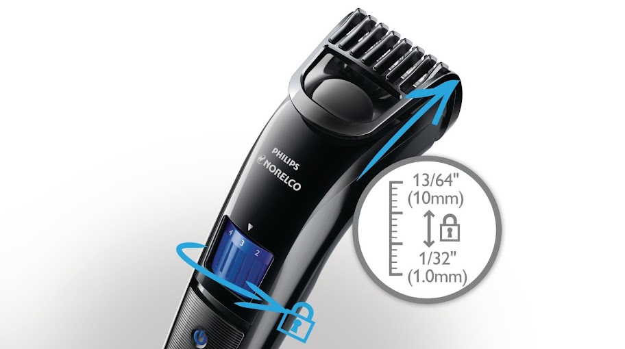 us philips norelco beardtrimmer 3100 with adjustable length settings 11street malaysia men. Black Bedroom Furniture Sets. Home Design Ideas