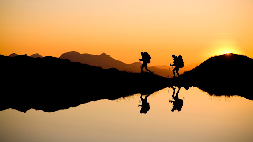 Hiking Near Kool-Aid Lake at Sunset, North Cascades, Washington.jpg