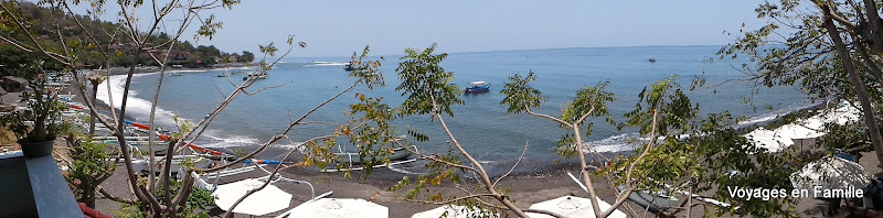 Jemeluk homestay - view of Jemeluk Bay