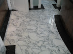 Arabascato marble & Belgian Fossil marble