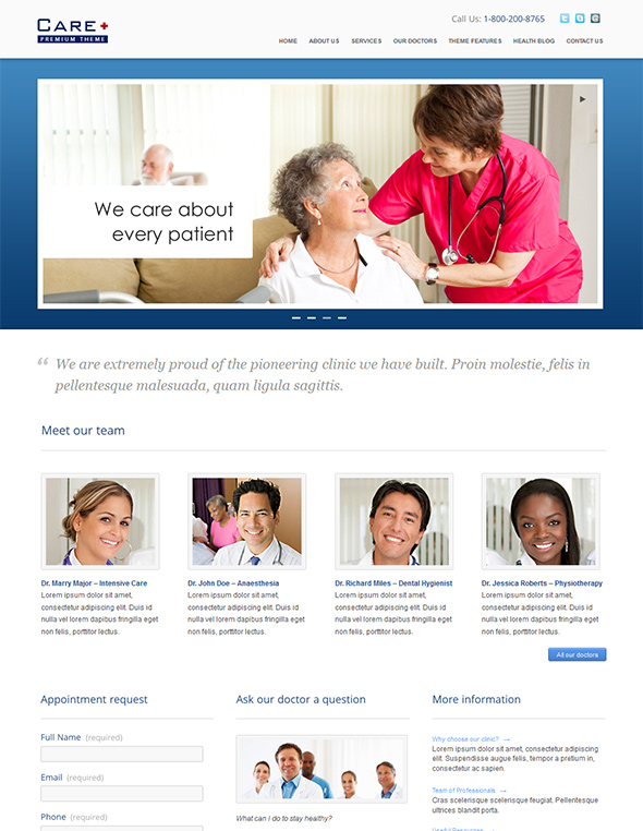 Medical WordPress theme health care