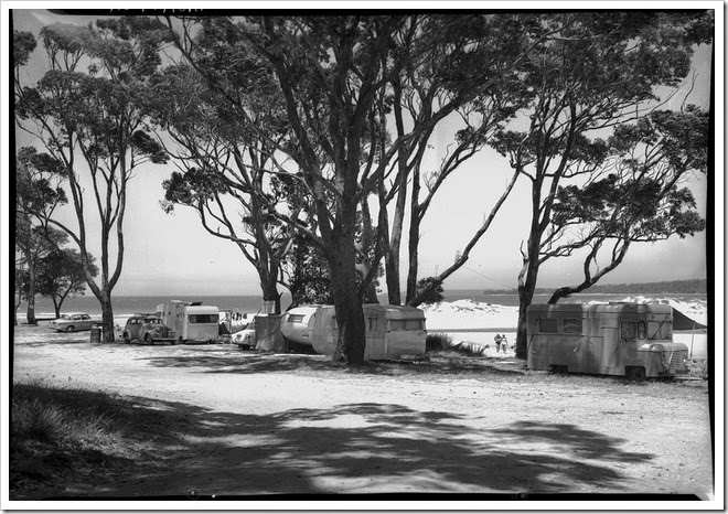 camping in australia vintage
