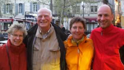 Mit Pate Rainer und Ursula in Arles