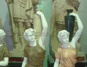 Female, Figure, Interior, Male, Marble, Natural Stone, Statues