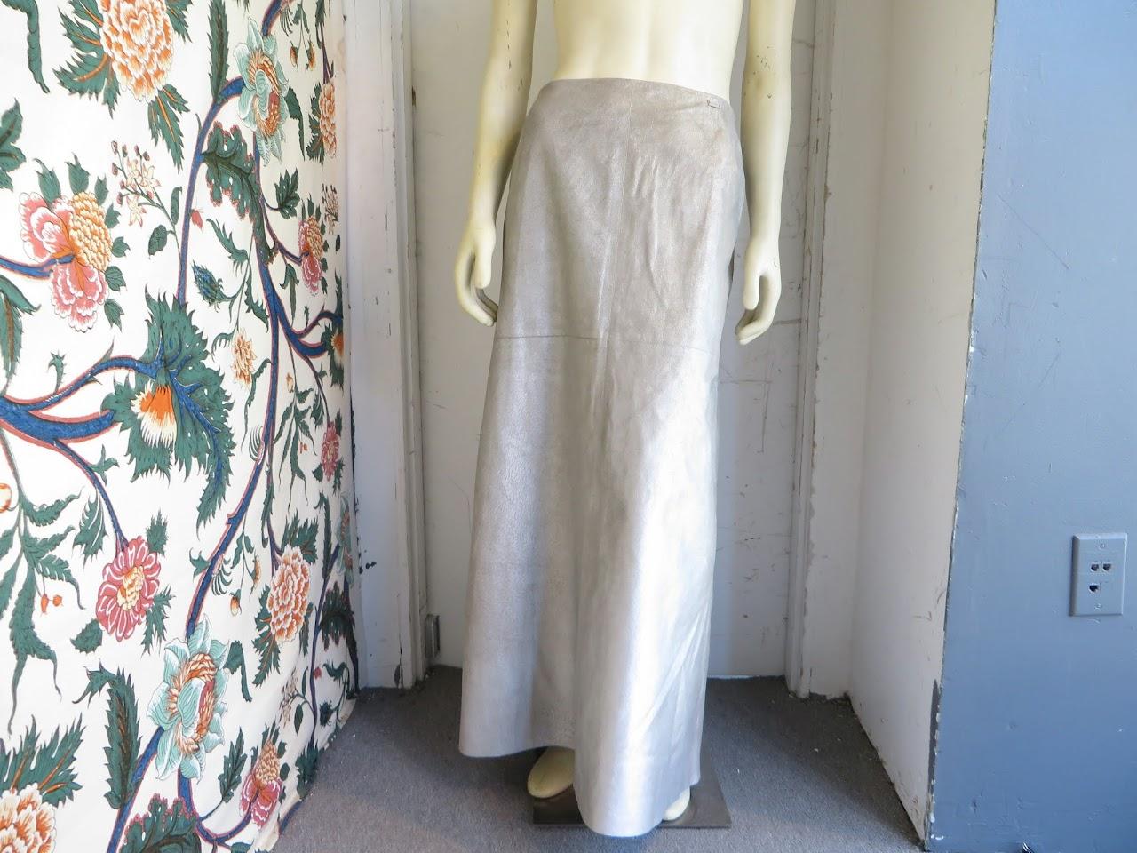 Chanel Metallic Maxi Skirt