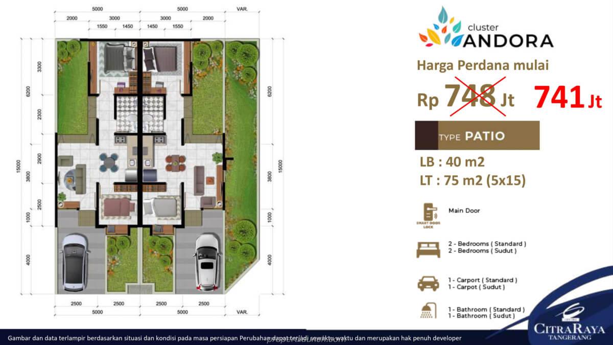 Rumah Andora Tipe 5x15
