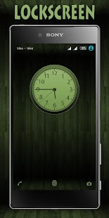 Wooden Icons Green XZ Theme - náhled