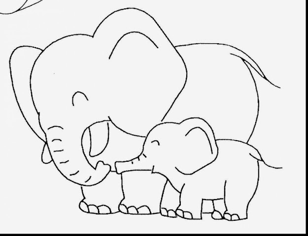 Marvelous Cute Baby Elephant Coloring Pages With Cute Baby Animal Coloring  Pages And Cute Baby Animal