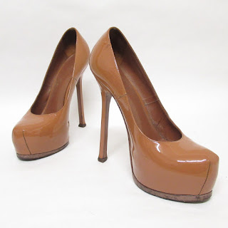 Yves Saint Laurent Patent Leather Platform Pumps