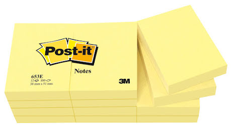 Post-it 653 51x38mm gul 12/fp