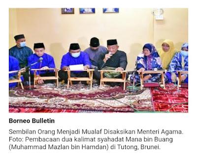 Sebanyak 369 orang di Brunei Darussalam menjadi mualaf