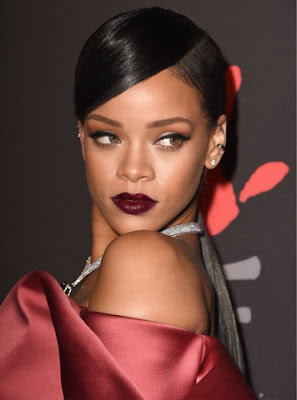 AW16 beauty trends, Rihanna berry lips - StyleBuzzUK