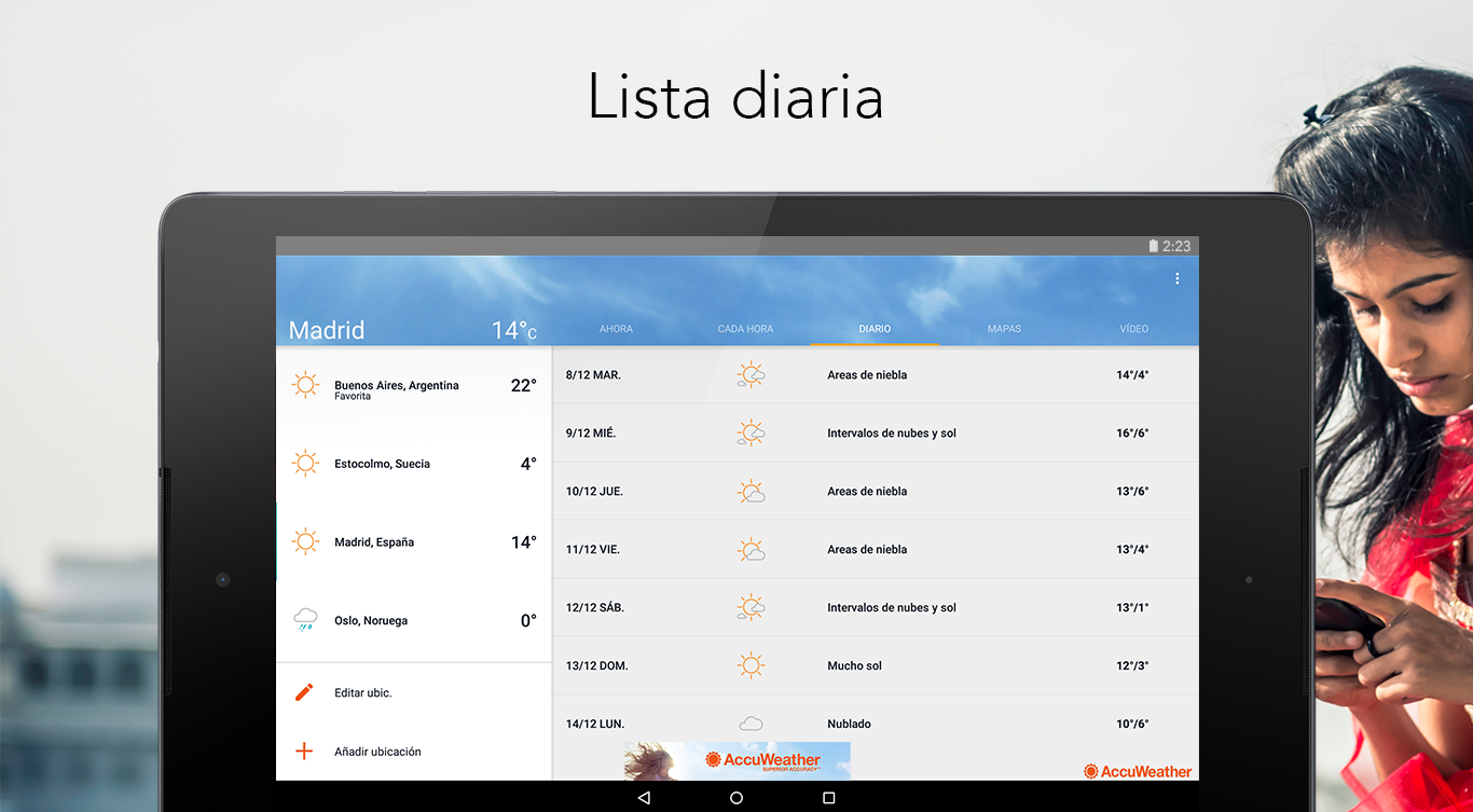 AccuWeather: captura de pantalla