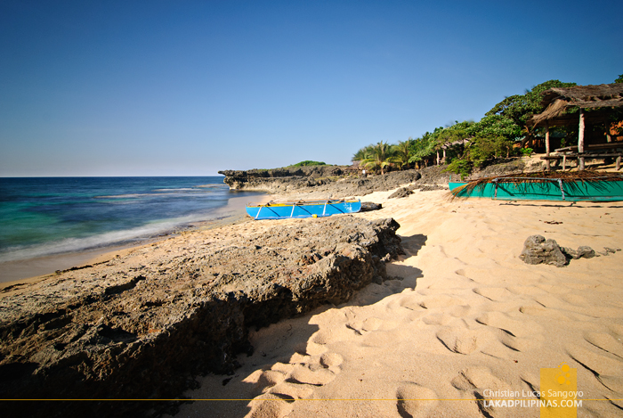 The Beach at the Rock View Beach Resort in Patar, Bolinao