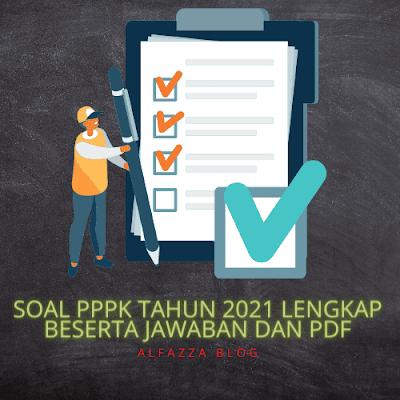 Soal pppk tahun 2021