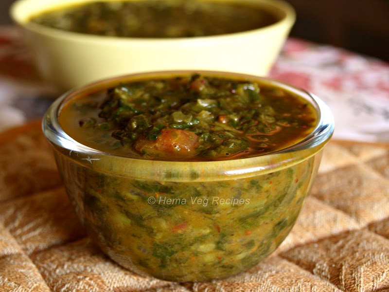 Methi Palak Curry or Fenugreek Spinach Curry
