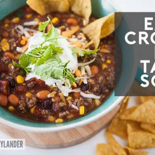 Easy Crock Pot Taco Soup Recipe | Fall Crock Pot Recipes.