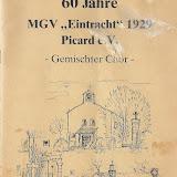 Festzeitschrift 60 Jahre MGV Eintracht 1929