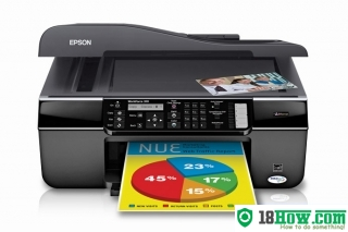 How to reset flashing lights for Epson WorkForce 310 printer
